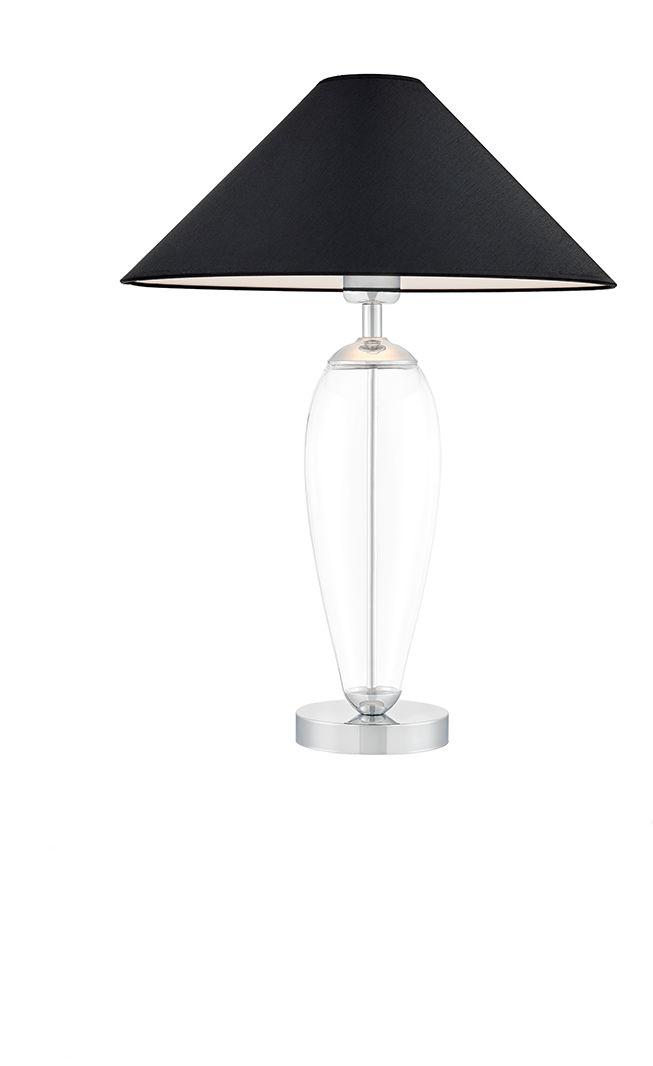 Lampa stołowa Rea 40605102 oprawa przezroczysta / abażur czarny Kaspa