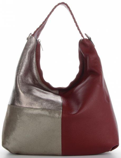 Uniwersalne Torebki Skórzane włoskiej firmy Genuine Leather Czerwone (kolory)