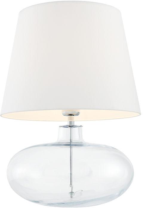 Lampa stołowa Sawa 40581101 oprawa przezroczysta / abażur biały Kaspa