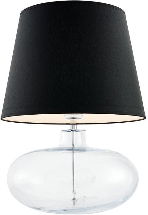 Lampa stołowa Sawa 40582102 oprawa przezroczysta / abażur czarny Kaspa