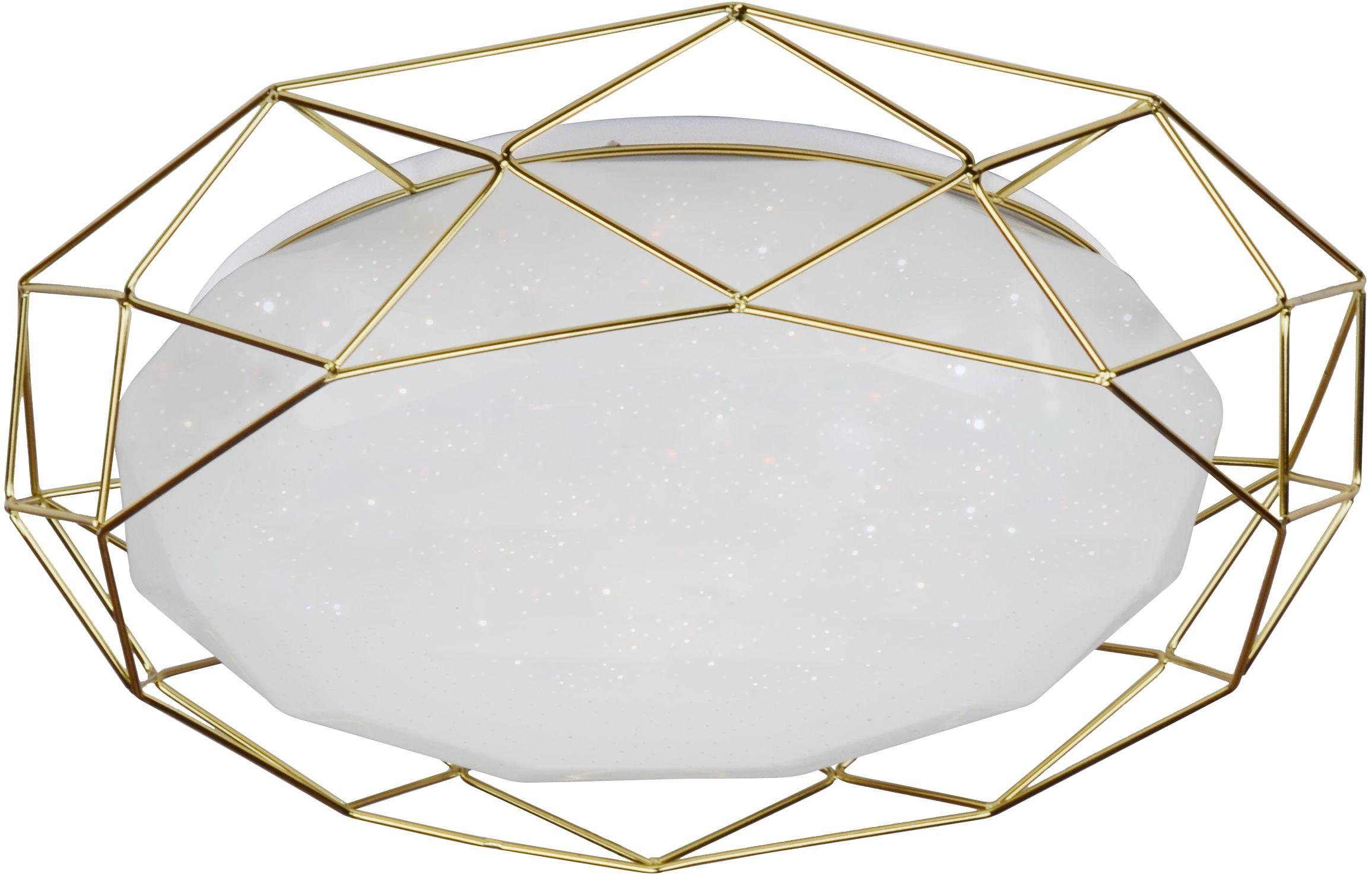 Candellux SVEN 98-66312 plafon lampa sufitowa akrylowy klosz 24W LED 3000K złoty 43cm