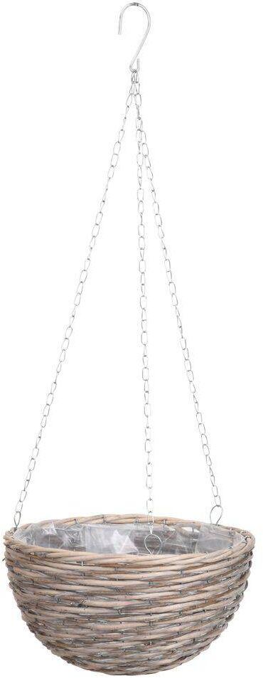 Doniczka, osłonka, wisząca, wiklinowa, do powieszenia, śr. 30 cm