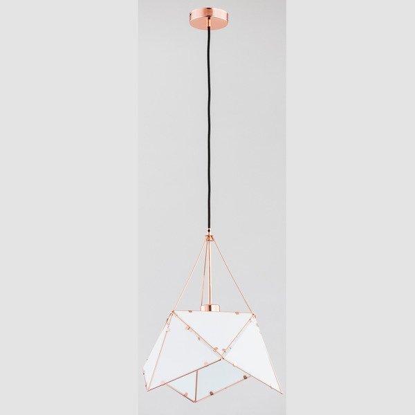 Lampa sufitowa ROMBUS MIEDŹ 38cm - miedziany 38