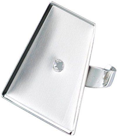 EFCO - pierścień do 22 x 15 x 29 mm/trapez Mosaix, srebrny