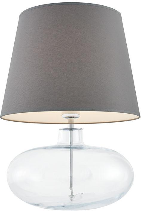 Lampa stołowa Sawa 40583108 oprawa przezroczysta / abażur szary Kaspa