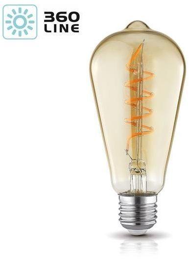 Żarówka filament LED spiral ST64 4W E27 barwa ciepła 2700K