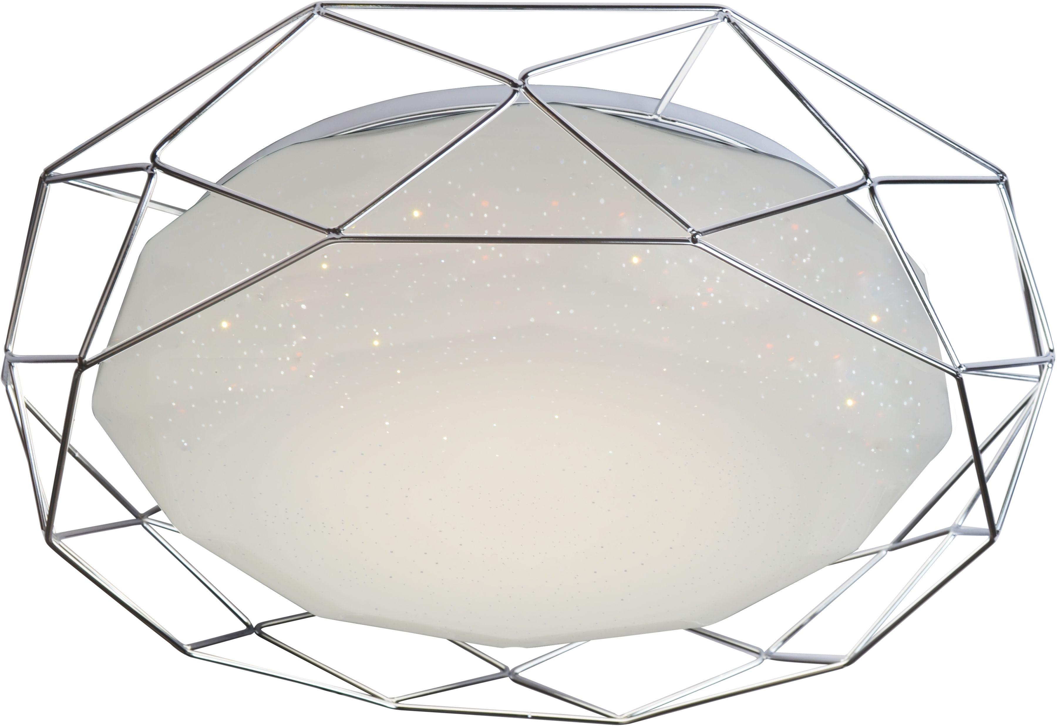Candellux SVEN 98-66237 plafon lampa sufitowa akrylowy klosz 43 24W LED 3000K chrom