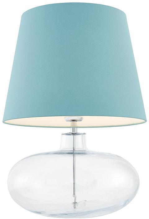 Lampa stołowa Sawa 40584112 oprawa przezroczysta / abażur jasny morski Kaspa