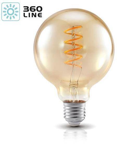 Żarówka filament spiral LED G95 4W E27 barwa ciepła 2700K