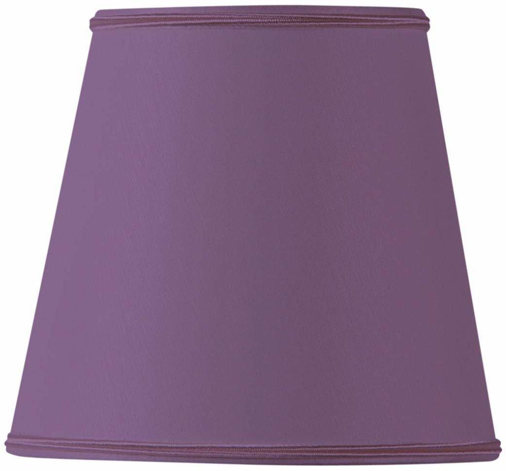 Klosz lampy do płomienia, 10 x 07 x 10 cm, fioletowy