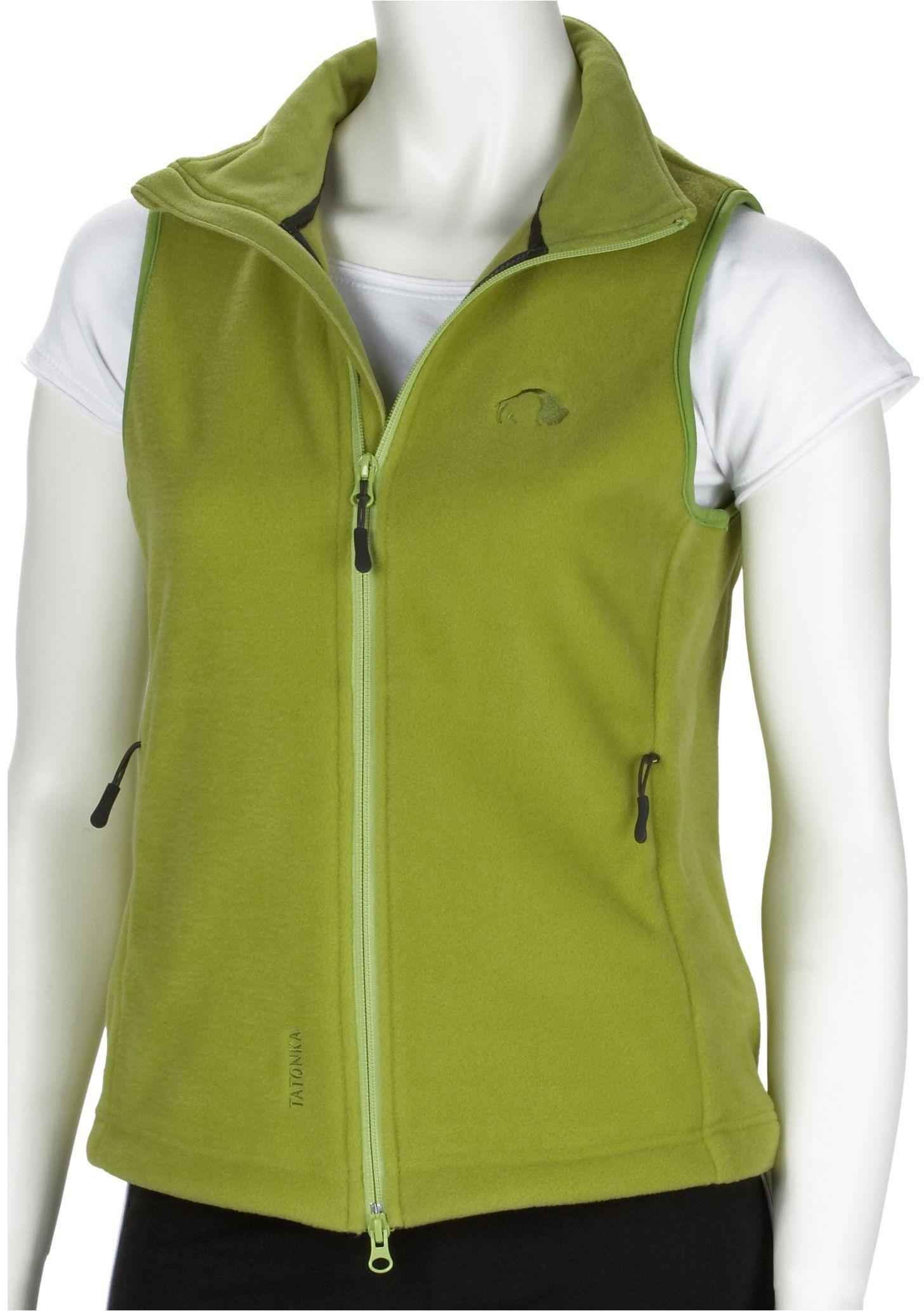 """Tatonka Essential damska kamizelka polarowa""""Montrose Lady Vest"""" z polaru, rozm. 40, zielona oasis"""
