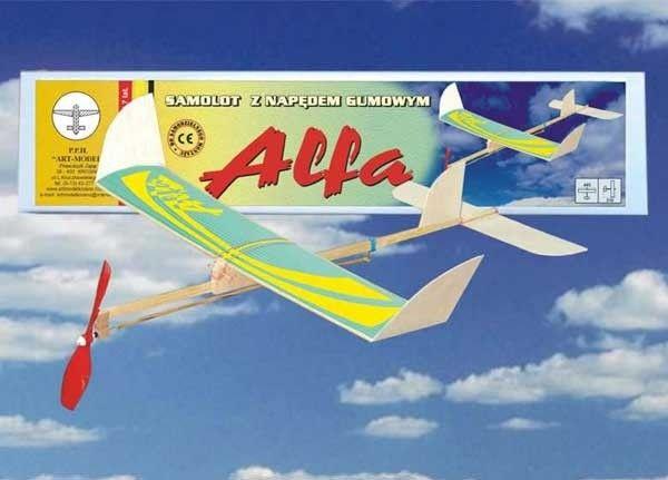 Model samolotu z napędem gumowym ALFA