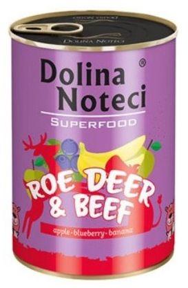 Dolina Noteci Premium Superfood Pies Sarna i wołowina puszka 400g