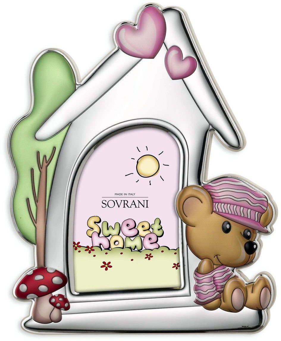 Ramka na zdjęcie domek Rozmiar: 9x13 cm Kolor: Różowy SKU: W5191R