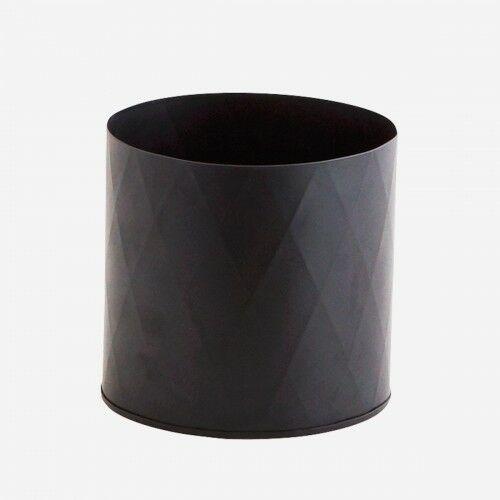 Aluminiowa doniczka czarna Madam Stoltz