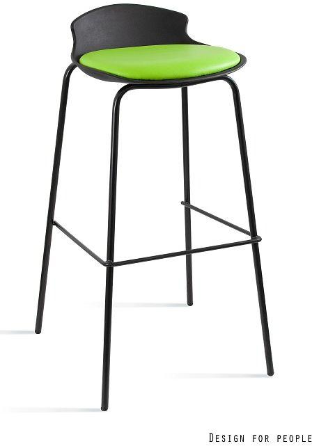 Hoker DUKE eko-skóra 7-87A czarny/zielony