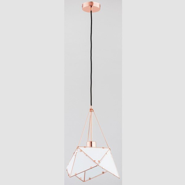 Lampa sufitowa ROMBUS MIEDŹ 30cm - miedziany 30