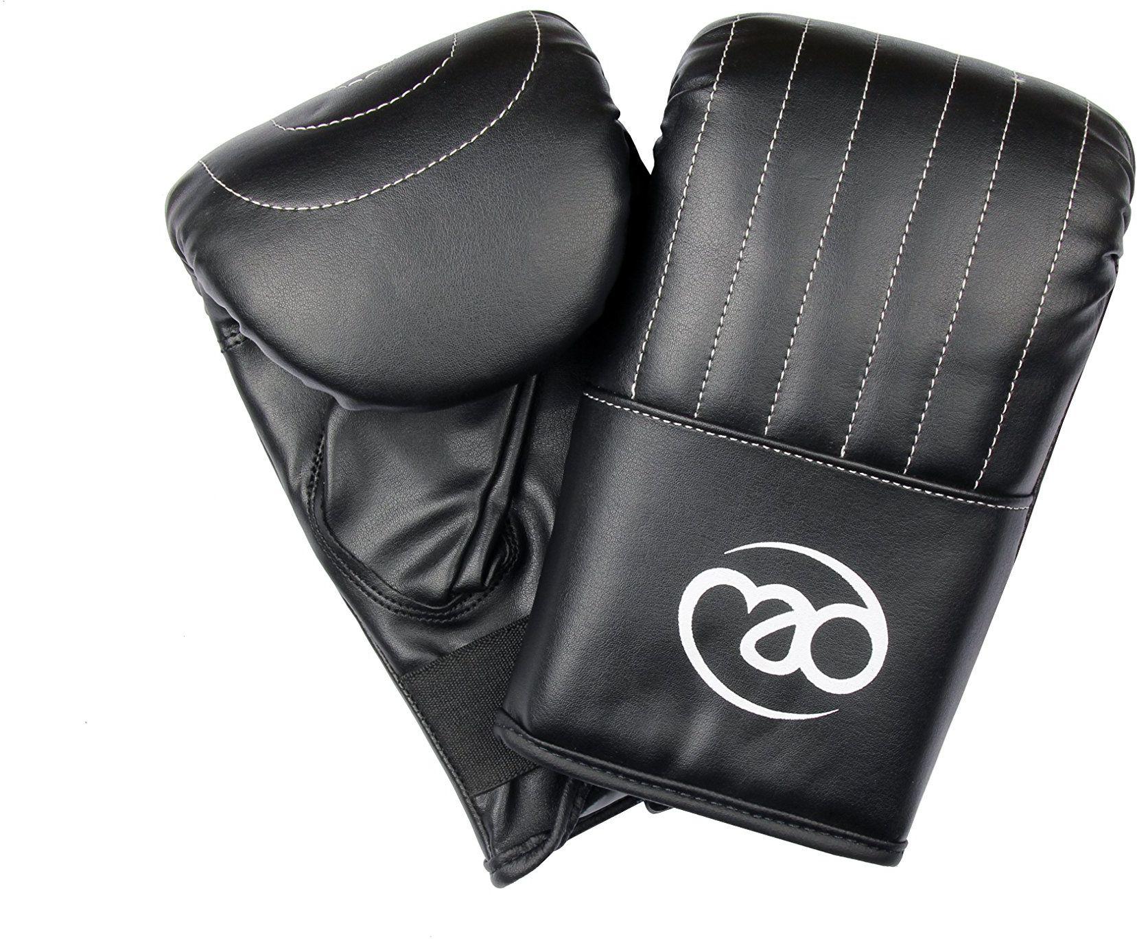 Boxing-Mad torba PCW mitt zapięcie na rzepy profesjonalna jakość - średnia, czarna