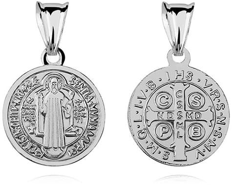 Srebrny medalik Święty Benedykt