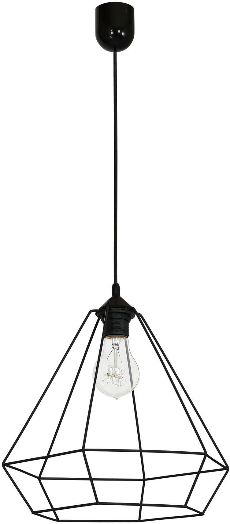 Milagro ALMA BLACK MLP8967 lampa wisząca czarna klosz przestrzenny metalowy o geometrycznym kształcie 1xE27 35cm