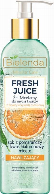 Bielenda - Fresh Juice - Moisturizing Micellar Gel with Bioactive Citrus Water - Nawilżający żel micelarny do mycia twarzy z bioaktywną wodą cytrusową - 190 g