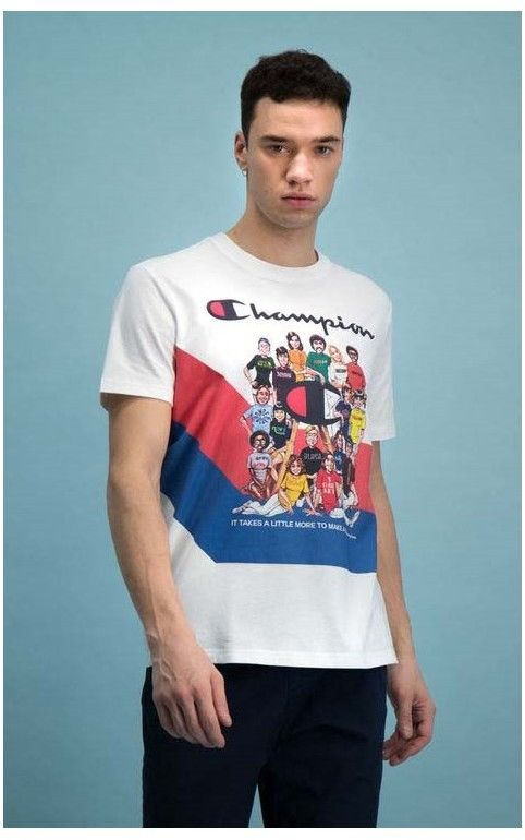 koszulka CHAMPION - Vintage Cover Print T-Shirt (WW001)