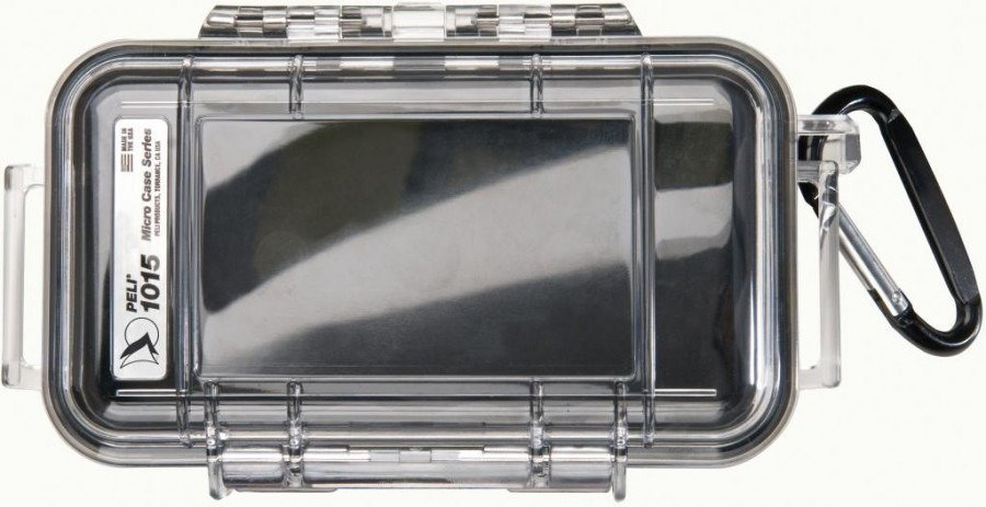 Peli 1015 przeźroczysta - wodoodporna, skrzynia transportowa