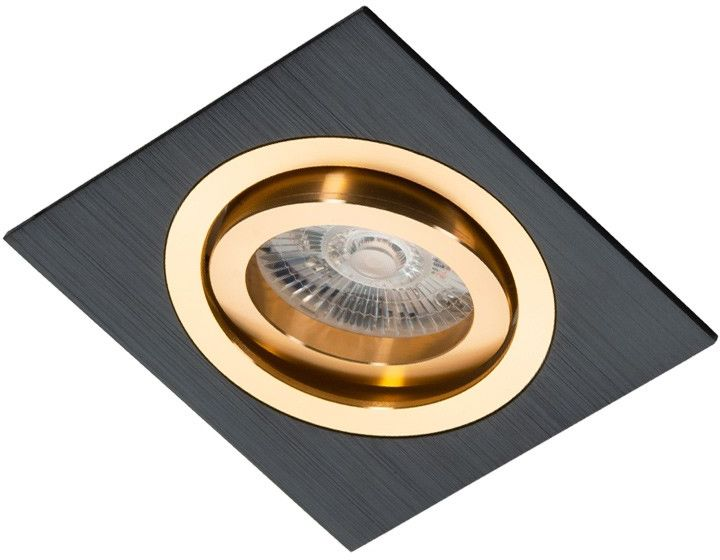 Oprawa podtynkowa regulowana Alcazar czarno złota - Lumifall // Rabaty w koszyku i darmowa dostawa od 299zł !