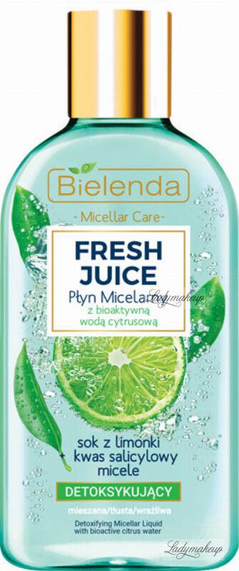 Bielenda - Fresh Juice - Detoxifying Micellar Liquid with Bioactive Citrus Water - Detoksykujący płyn micelarny z bioaktywną wodą cytrusową - 100 ml