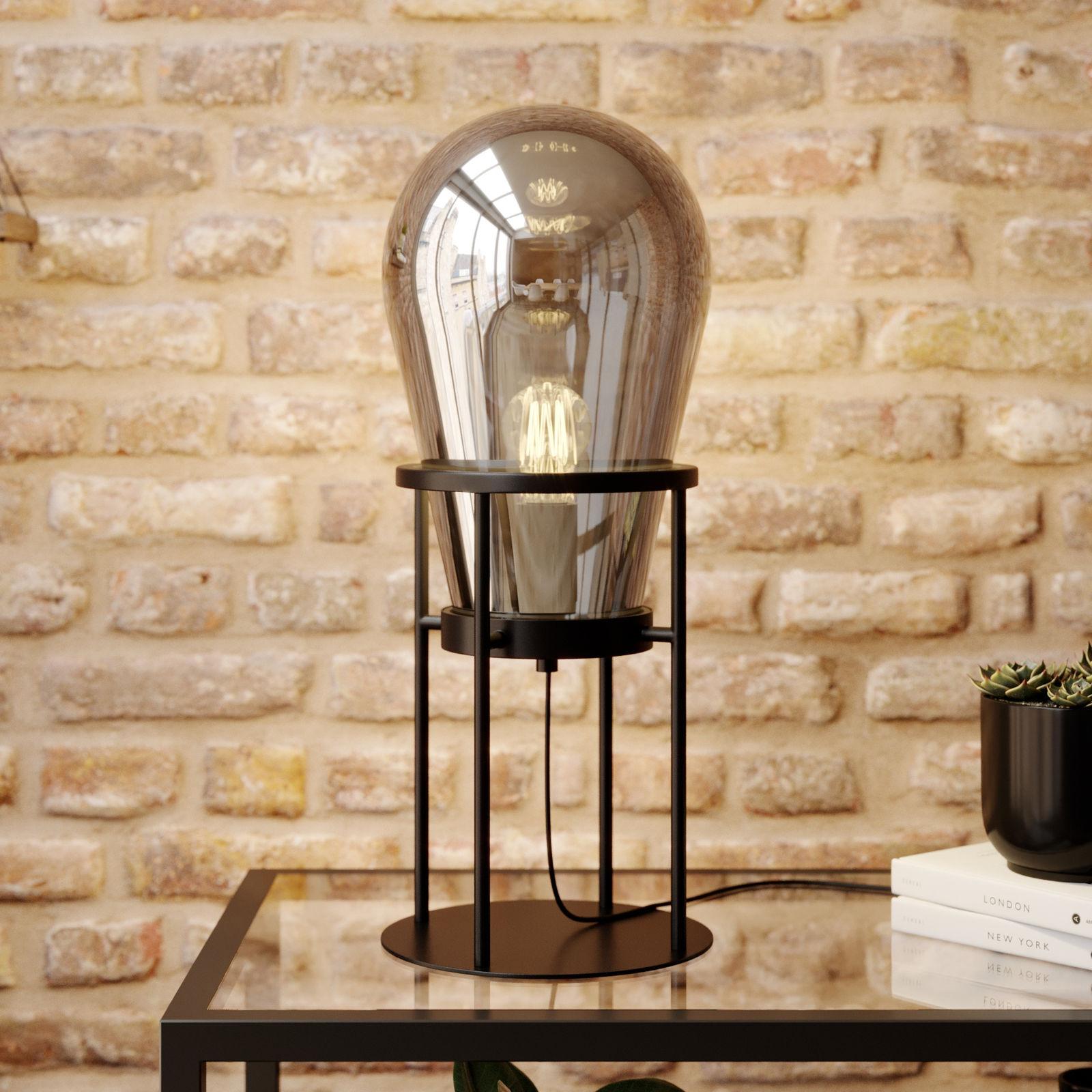 Lucande Viyan lampa stołowa ze szklanym balonem