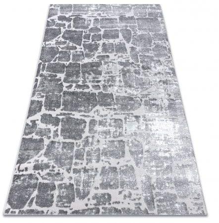 Dywan MEFE nowoczesny 6184 Kostka brukowa cegła - Strukturalny, dwa poziomy runa ciemnoszary 80x150 cm