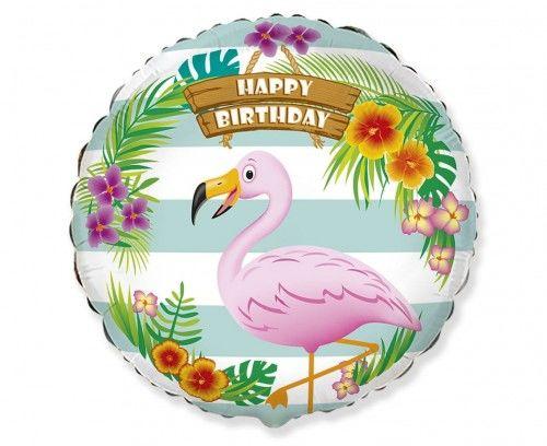 Balon foliowy Urodzinowy Flaming