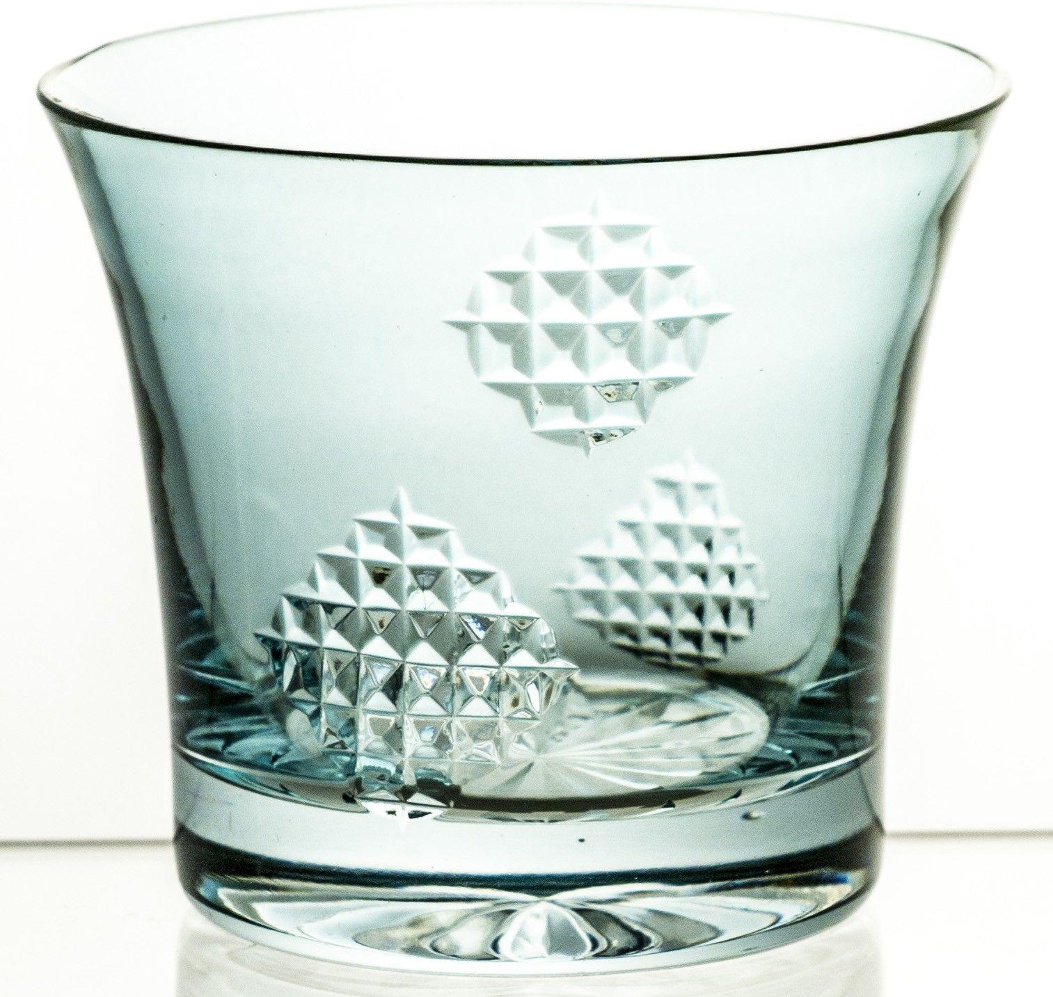 Szklanka kryształowa kolorowa do napojów łatki (10850)