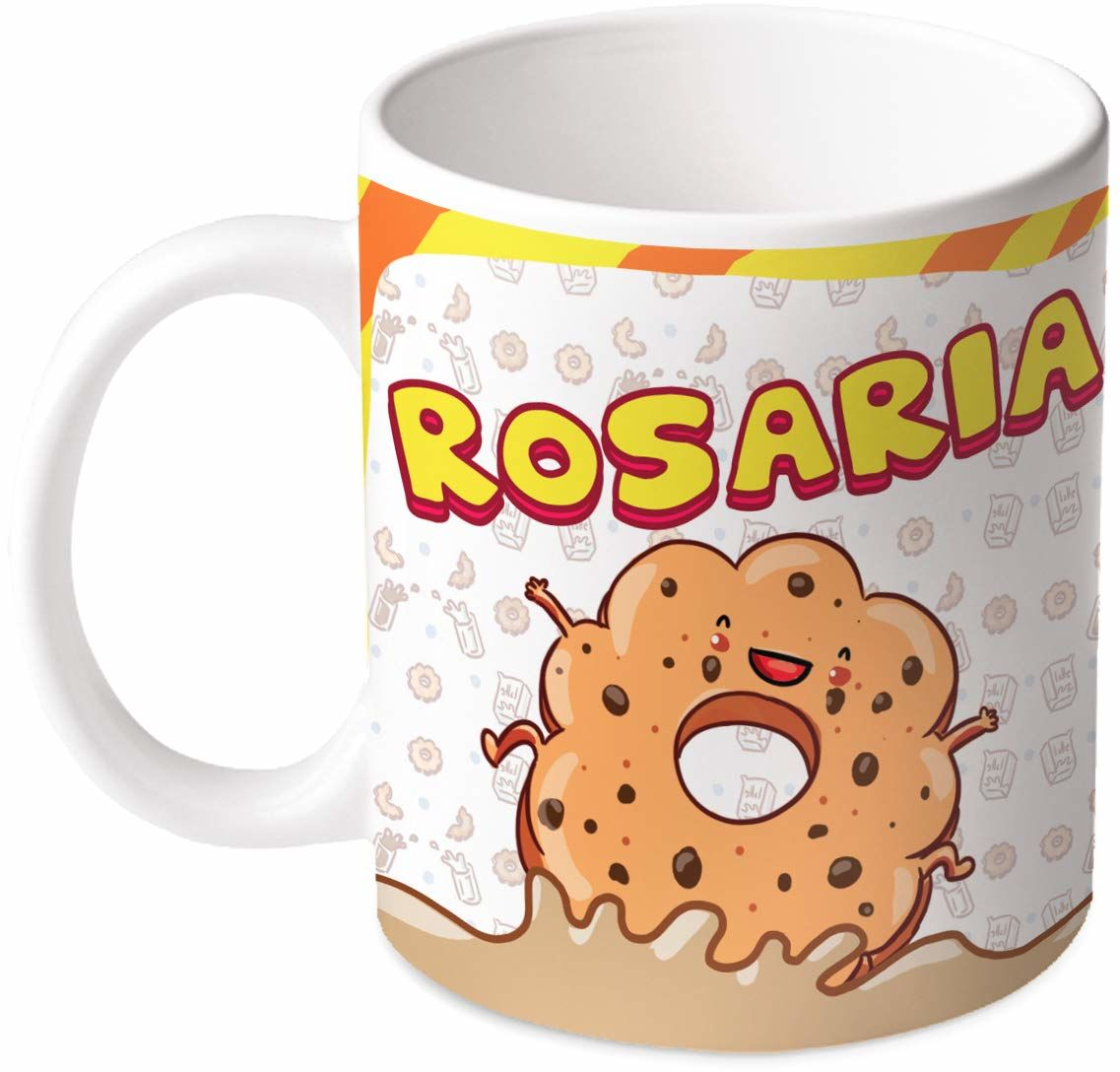 M.M. Group Filiżanka z imieniem i znaczeniem Rosaria, 30 ml, ceramika, wielokolorowa
