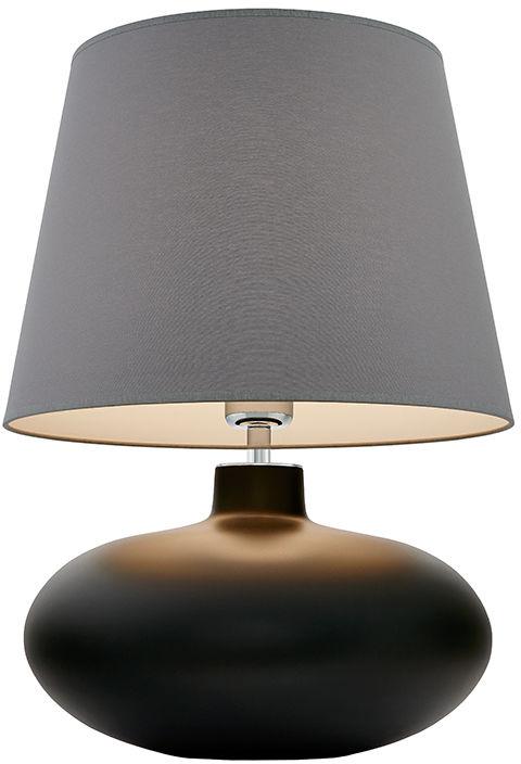 Lampa stołowa Sawa 40590108 oprawa grafitowa matowa / abażur szary Kaspa