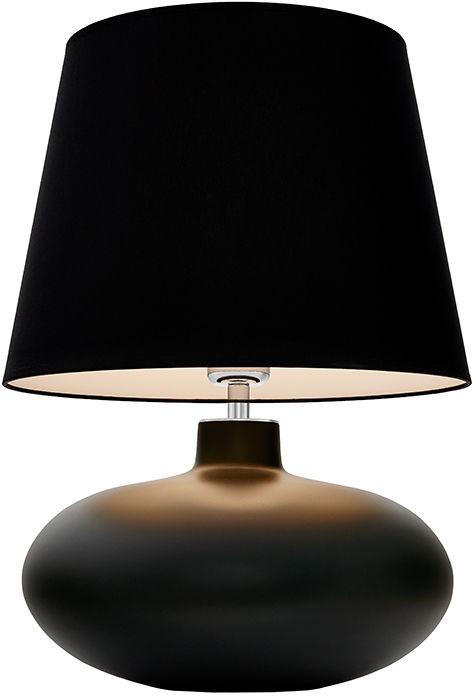 Lampa stołowa Sawa 40591102 oprawa grafitowa matowa / abażur czarny Kaspa