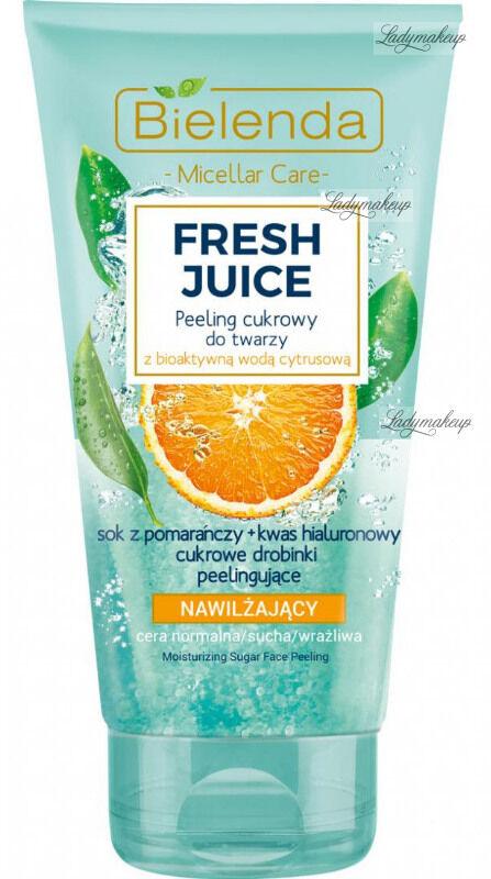 Bielenda - Fresh Juice - Moisturizing Sugar Face Peeling - Nawilżający peeling cukrowy do twarzy z bioaktywną wodą cytrusową - 150 g