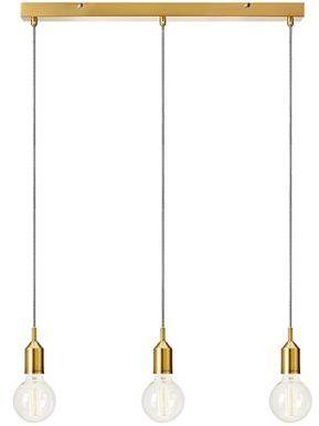 Lampa wisząca BRONX Pendant 3L Straight Bronze 108097 Markslojd złota nowoczesna oprawa wisząca