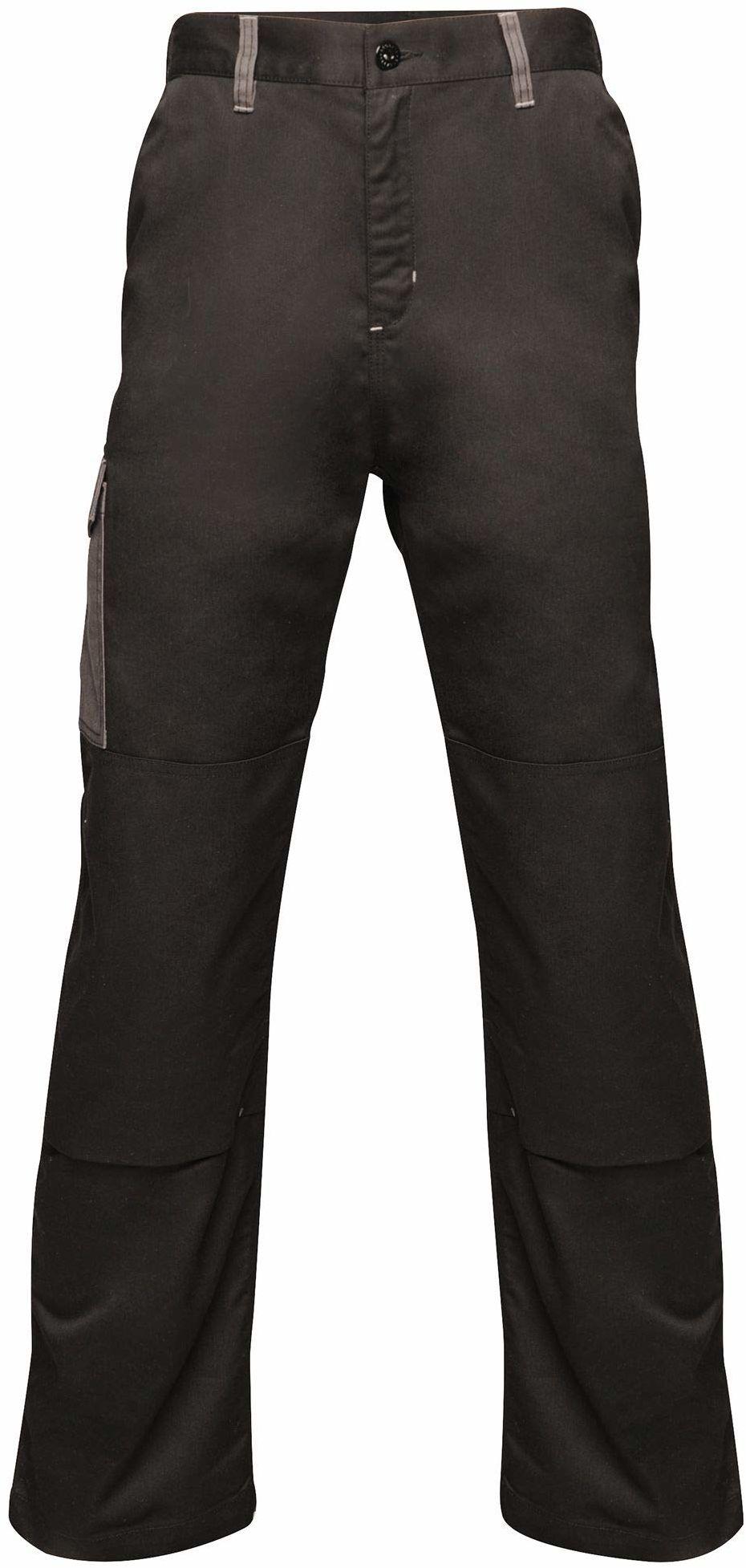 """Regatta męskie profesjonalne kontrastowe wytrzymałe spodnie cargo potrójnie szyte wodoodporne spodnie Black/Seal Grey Size: 42"""""""