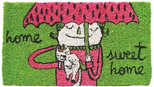 LAROOM 11888  wycieraczka Home Sweet Home, zielona