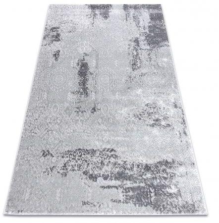 Dywan MEFE nowoczesny 8731 Przecierany vintage - Strukturalny, dwa poziomy runa szary 80x150 cm