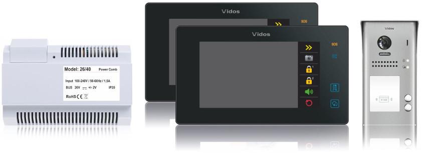 Wideodomofon 2-rodzinny vidos duo 2 x m1021b / s1102a - możliwość montażu - zadzwoń: 34 333 57 04 - 37 sklepów w całej polsce