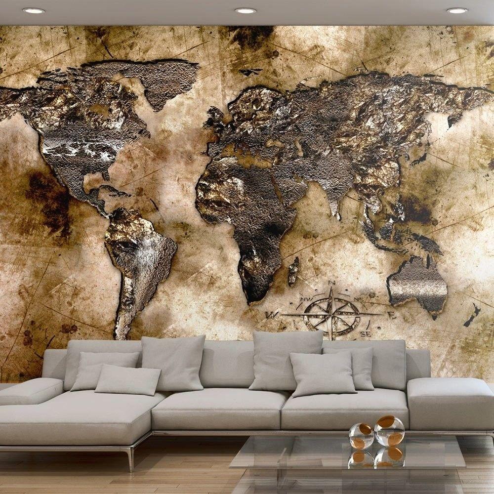 Fototapeta - stara mapa świata