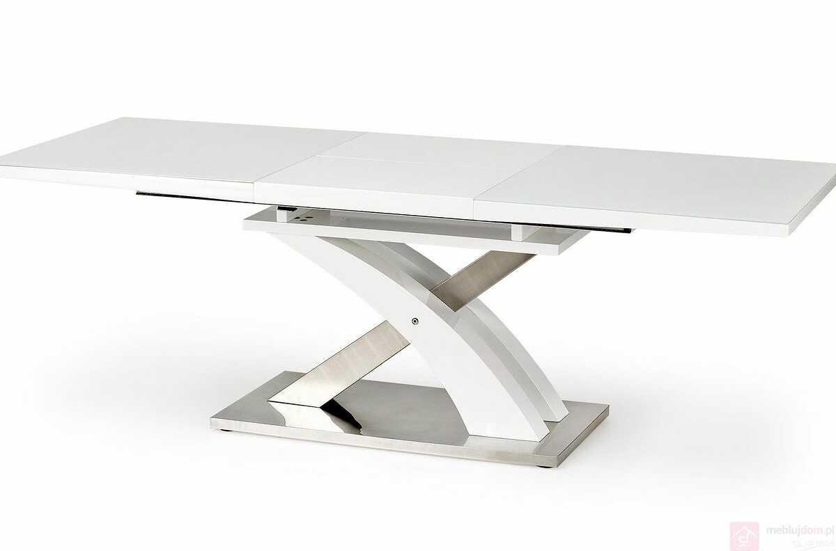 Stół SANDOR 2 Halmar Biały, 90x160-220 cm