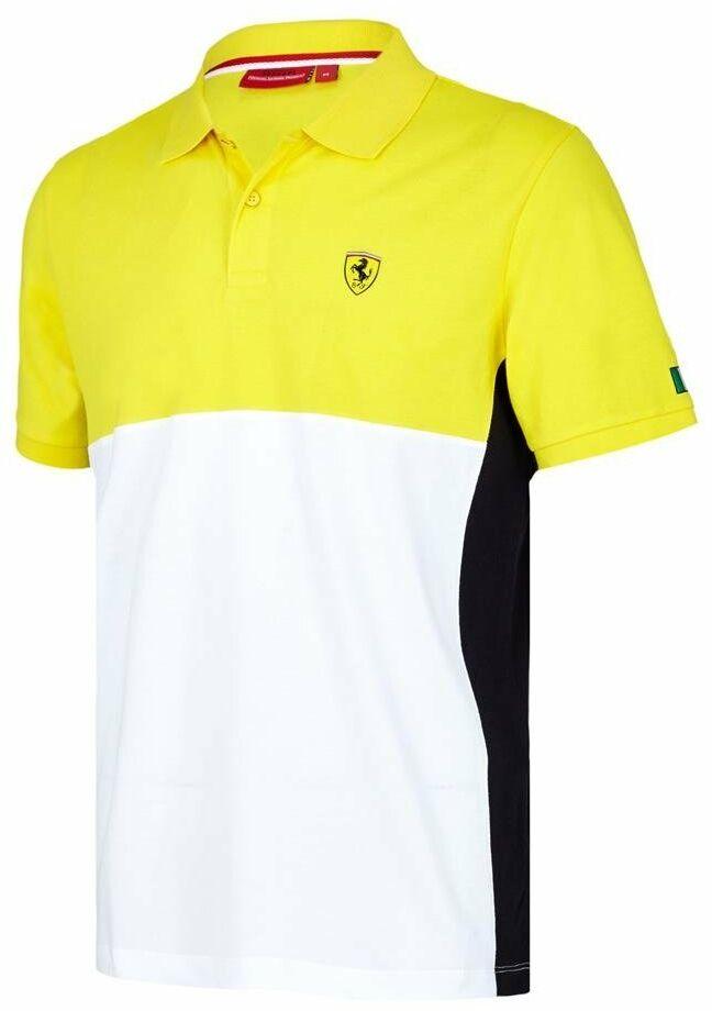 Koszulka Ferrari polo męska Scuderia Ferrari F1 Cut & Sew żółta