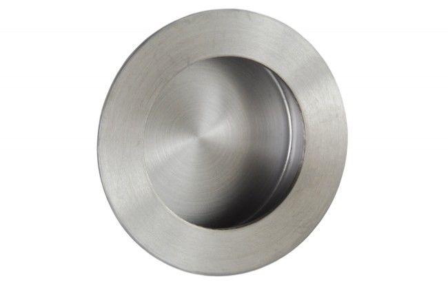 Uchwyt do drzwi przesuwnych wpuszczany okrągły FH201-50 (fi 50 mm), stal nierdzewna