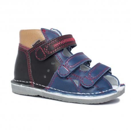 BARTEK 11688/16688 -V019 kapcie / sandały profilaktyczne chłopięce - czarno niebieskie