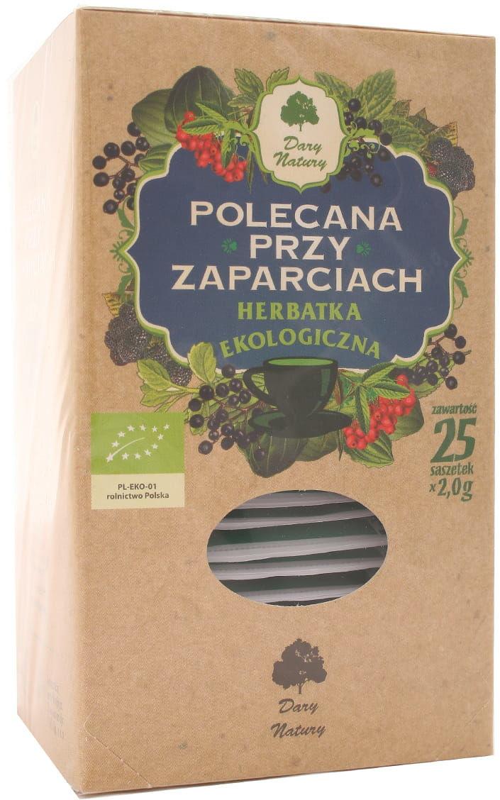 Herbatka polecana przy zaparciach BIO - Dary Natury - 25 saszetek