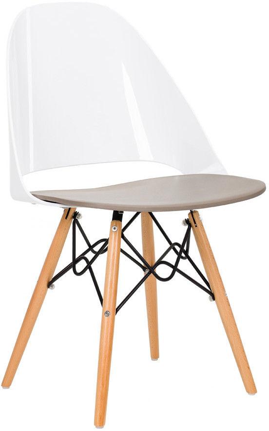 Krzesło TDF Fiamo white-mild grey