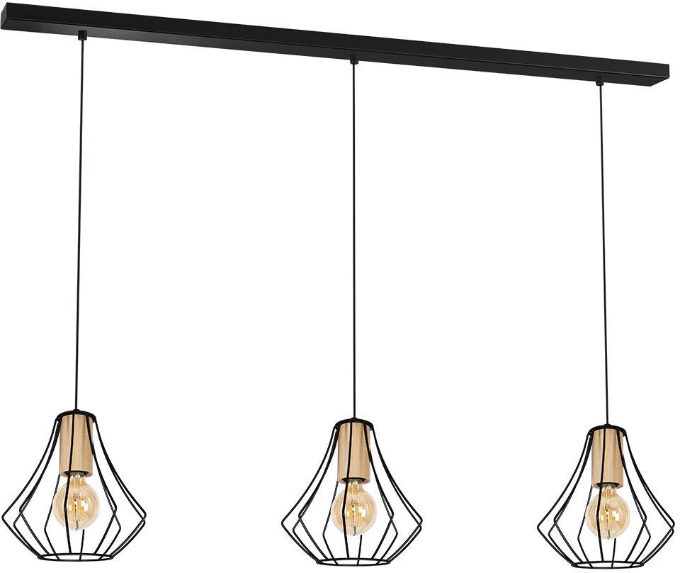 Milagro WILL BLACK MLP4191 lampa wisząca czarny metalowy klosz 1xE27 24 cm